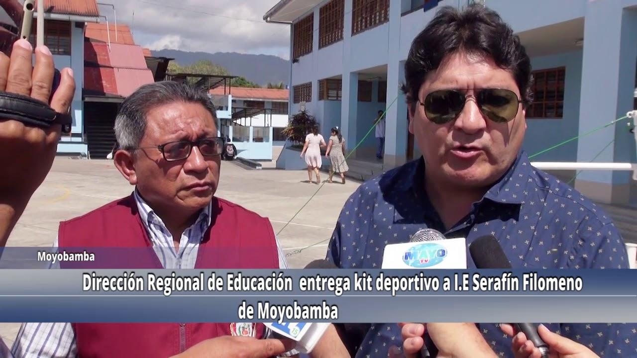 DRE entrega kit deportivo a colegio emblemático Serafín Filomeno