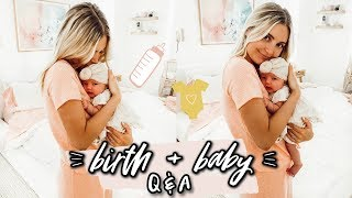 ANSWERING YOUR QUESTIONS ABOUT BIRTH & BABIES!! | Aspyn Ovard