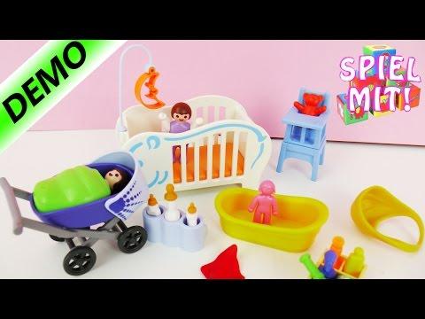 Playmobil 6226 | Baby Erstaustattung mit Kinderwagen, Babybadewanne, Babybettchen
