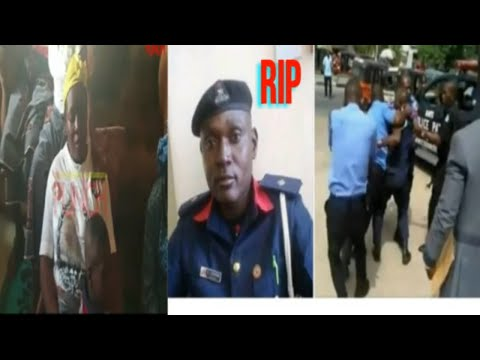 See Nigerian Civil Defence Officer Beaten By Police Officers In Presence Of Wife and Children Gone