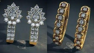 Gold And Diamond Earrings With Price By BLue Stone