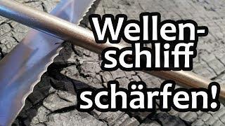 Wellenschliff schärfen: So klappts mit eurem Brotmesser, Taschenmesser oder Säge