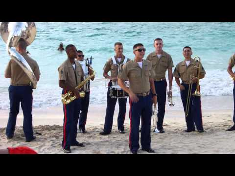 Marine Forces Pacific Party Band performing at Kailua Beach Park's 4th of July Festival!