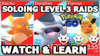 Donphan  - (Pokémon) - SOLOING ALOLAN RAICHU DONPHAN & FLAREON RAIDS IN POKEMON GO | TIPS & STATS
