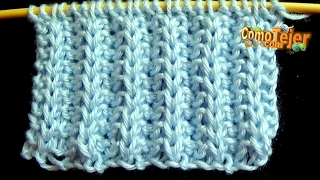Cómo Tejer FALSO PUNTO INGLÉS -  Knitting Stitches - 2 Agujas (280)