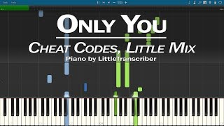 Cheat Codes, Little Mix   Only You (Piano Cover) Synthesia Tutorial By LittleTranscriber