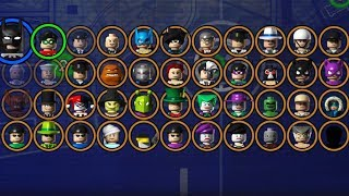 LEGO BATMAN: The Videogame! Complete Character Grid!