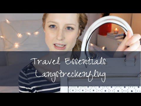 Travel Essentials für Langstreckenflüge