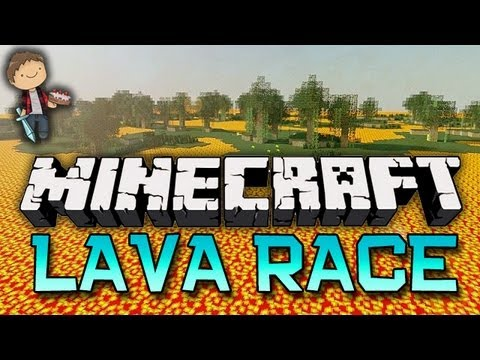 Minecraft: LAVA RACE! Mini-Game w/Mitch & Friends!
