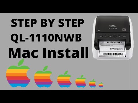 Brother QL-1110NWB WIRELESS Setup on Mac FULL TUTORIAL & eBay Poshmark etsy 4x6 Shipping Settings