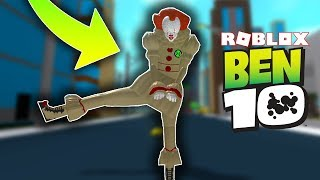 HOW TO BE A CLOWN ON BEN 10 ARRIVAL OF ALIENS ON ROBLOX! *Super Strong*
