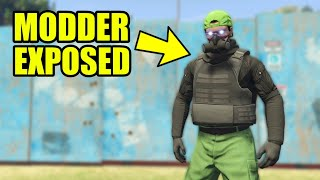 Cheating MODDER Rage Quits On GTA 5 Online (exposed)