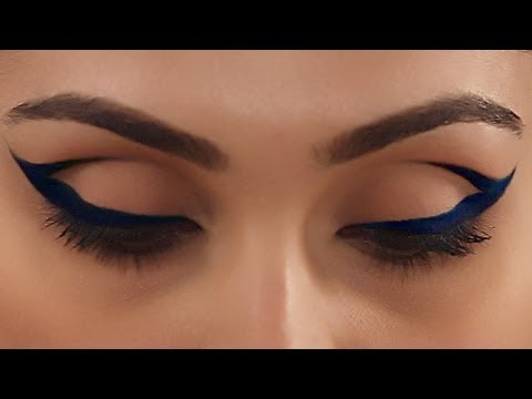 Cobalt Blue Cat Eye Makeup - Expert Makeup Tutorial - Glamrs