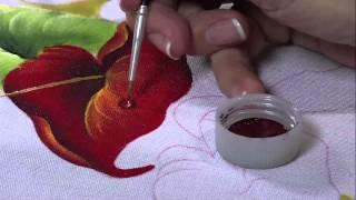 Pintando Anturio vermelho