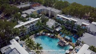 Drone video footage of The Beach Club Palm Cove