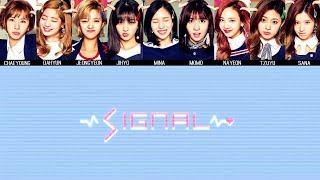 TWICE - SIGNAL MV + Lyrics Color Coded HanRomEng