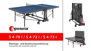 Sponeta S 4-70 / 72 / 73 i - Montageanleitung Tischtennistisch / Instructions for assembly and use