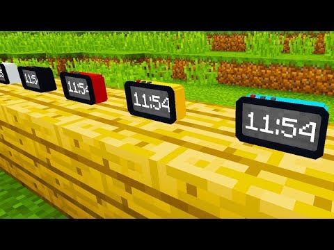 SUPER RELOJES DIGITALES! Minecraft 1.12.2 MOD DIGITAL CLOCK!