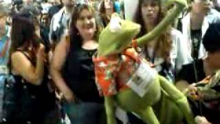 Kermit the Frog visiting us at ComiCon 2009!