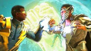 Injustice 2 - Black Lightning Vs Black Adam All Intro Dialogue/All Clash Quotes, Super Moves