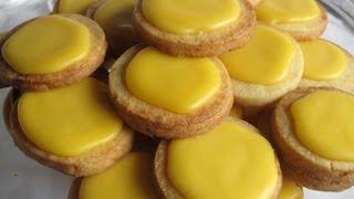 Receta sencilla y facil de Pastas de te limon (galletas)