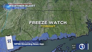 FORECAST: Freeze watch tonight, snow possible for the weekend