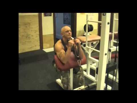 Rope Cable Preacher Curl