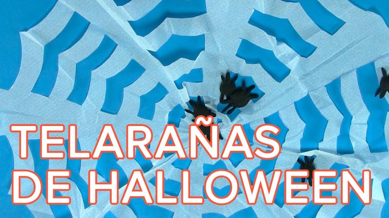 Cómo hacer telaraña para decorar la casa en Halloween | Manualidades sencillas