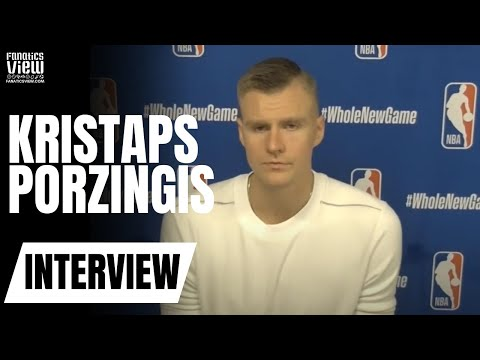 "Kristaps Porzingis Reacts to Luka Doncic Between-The-Legs Pass & ""More Comfortable"" in Mavs Offense"