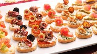 Canapés variados Fáciles y Rápidos | 7 tipos de Canapés Fríos