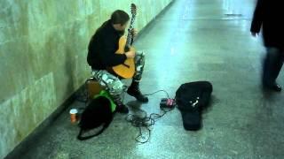 Mariusz Goli Amazing guitarist in Poland(Katowice)/Niesamowity Gitarzysta na Dworcu w Katowicach