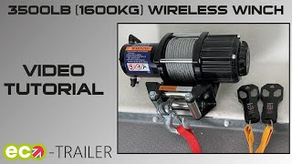 Operating your electric winch