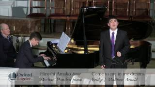 Young Artist Platform Auditions 2017: Hiroshi Amako & Michael Pandya - Come to me in my dreams