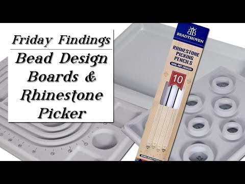 Bead Design Boards for Jewelry & Beading AND Rhinestone Picker Tool Review-Friday Findings