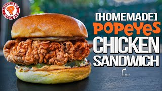 Popeyes Chicken Sandwich - But Homemade... & WAY Better! | SAM THE COOKING GUY 4K