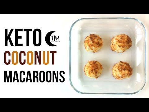 Keto Coconut Macaroon Cookies | Low-Carb Macaroon Recipe | Sugar-Free Macaroons