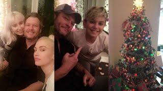 Gwen Stefani and Blake Shelton celebrating gwen's sister and niece Birthday | Snapchat | December 22