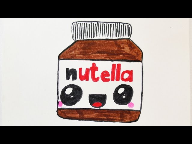Video Kawaii Nutella Diy Zeichnen Susse Schoko Creme Malen Fur