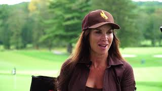 Darrell Reid interviews actress DEBBE DUNNING at the JOHN STARKS FOUNDATION GOLF TOURNAMENT 2017