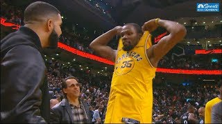 Kevin Durant Gives Drake His Jersey After Loss vs Raptors! Warriors vs Raptors