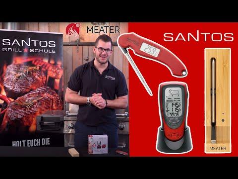 Großer BBQ Thermometer Vergleich - MEATER+ & Santos BBQ Funkthermometer im Test - von 19 - 109 €