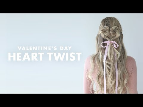 Heart Twist Hairstyle - Perfect for Valentine's Day