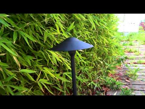 Outdoor landscape wide hat path light
