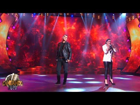 Ángela Leiva y Brian Lanzelotta fueron Los Pimpinela en su debut en Cantando 2020