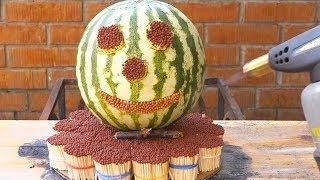 EXPERIMENT 10 000 Matches vs Watermelon