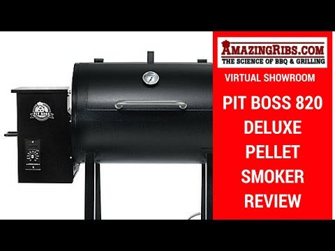 AmazingRibs.com Virtual Showroom – Pit Boss 820 Deluxe Pellet Smoker