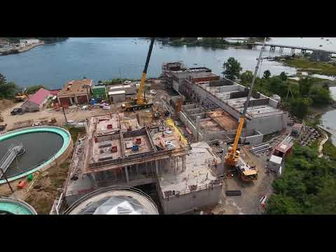 August 2018 Aerial Progress Video Peirce Island WWTF Project