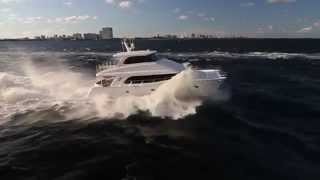 Action shots of the Horizon Power Catamarans PC60 Open and Skylounge