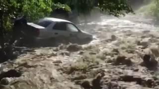 Домбай 04.07.2017  #наводнение #домбай #ливень #град #зеленчук #архыз