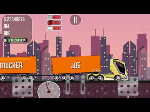 Game Trucker Joe is transporting steel to the construction of cargo warehouses